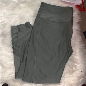Pants - Dark green/grey leggings